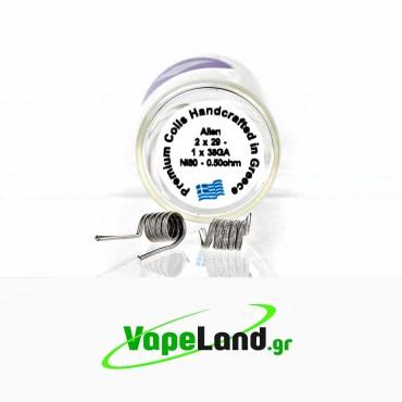 Velvet Vape Premium handmade coils Alien Ni80 0.5ohm