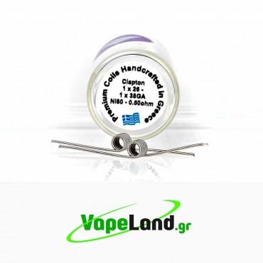 Velvet Vape Premium handmade coils Clapton Ni80 0.5ohm
