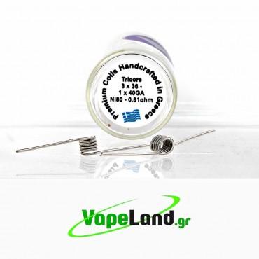 Velvet Vape Premium handmade coils Tricore Ni80 0.81ohm
